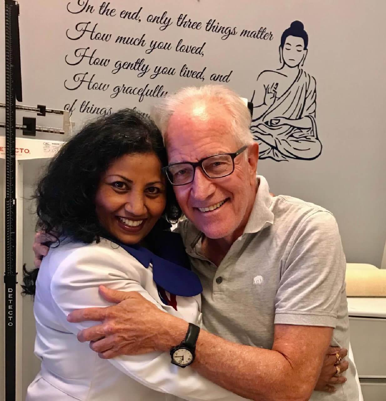 Sheila Kar with patient photo last