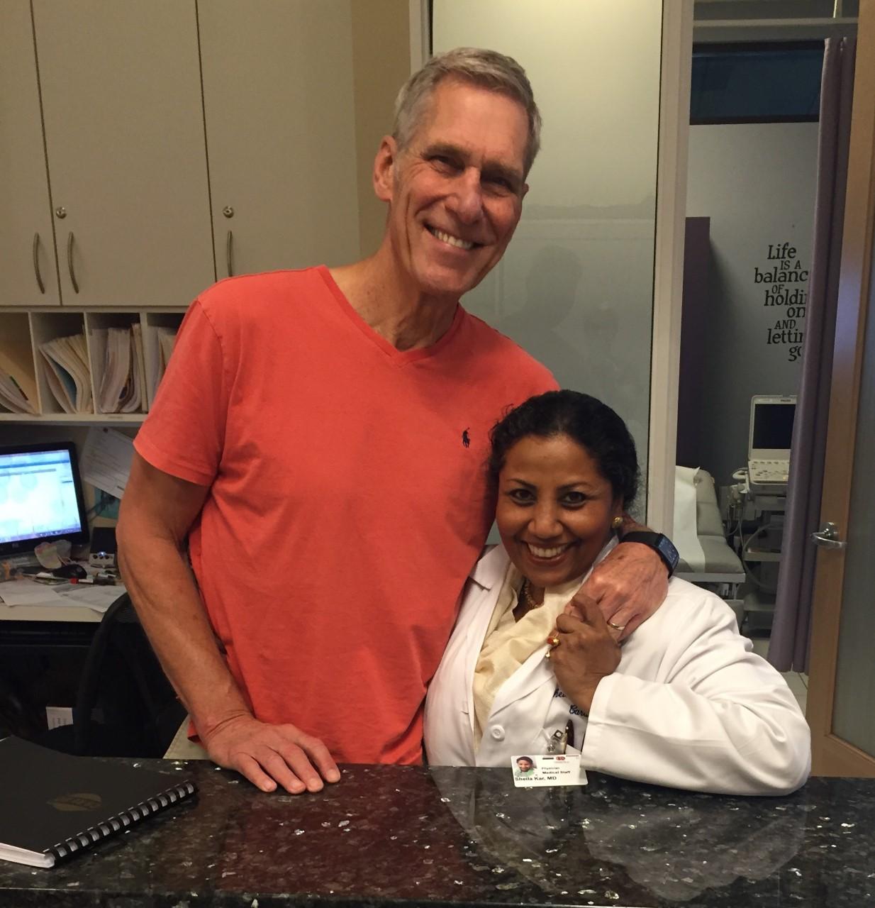 Sheila Kar with happy patient photo