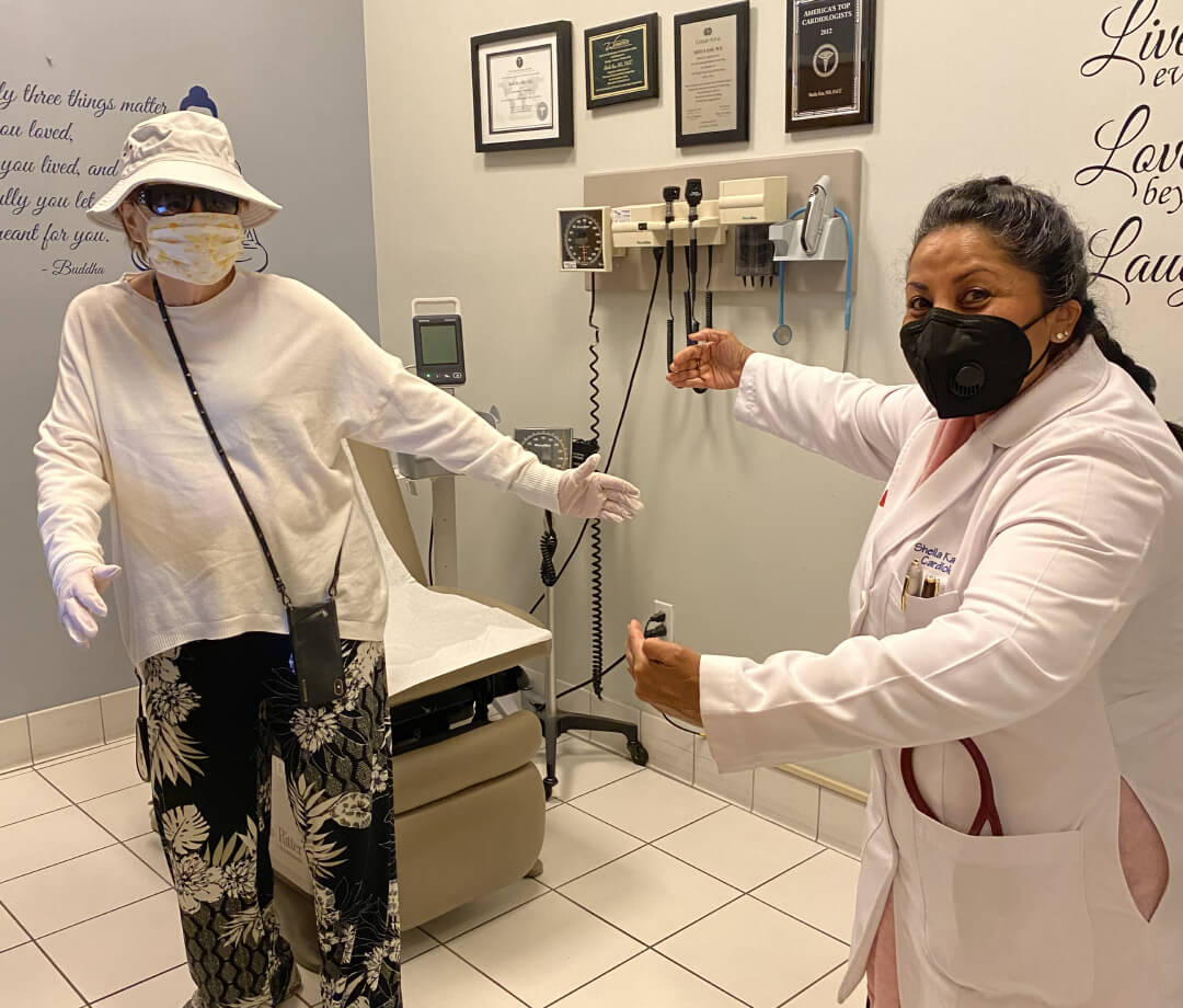 Sheila Kar with Patient during consultation