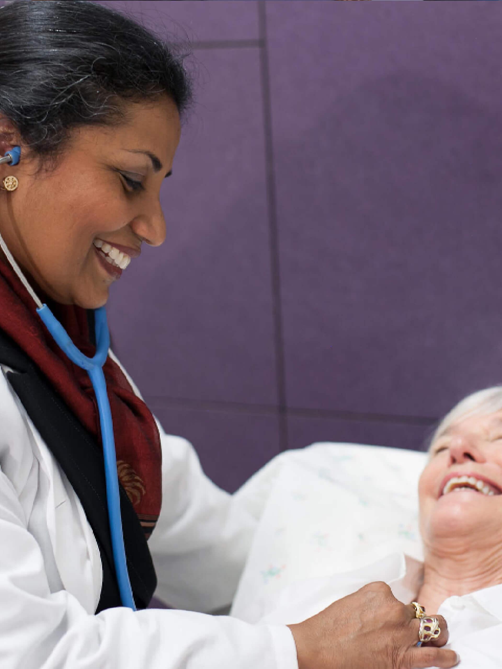Sheila Kar with patient photo